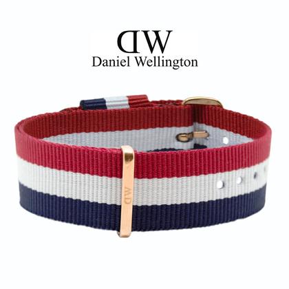 Daniel Wellington 20mm Classic Cambridge NATO Horlogebandje Rose Gouden Gesp