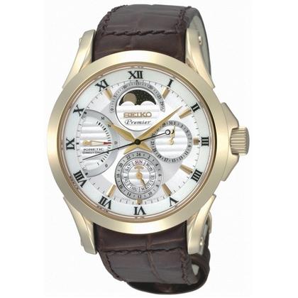 Seiko Premier Horlogeband SRX004P1 Bruin Leer