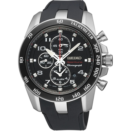 Seiko Sportura Horlogeband SNAE87 Zwart Rubber