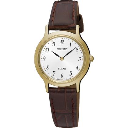 Seiko Solar Horlogeband SUP370 Bruin Leer